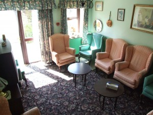 The Green Lounge at Charnley House