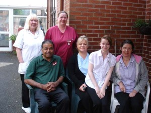 Some of the staff at Charnley House