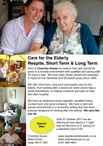 Charnley House Respite Care in Tameside Flyer